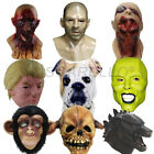 Realistic Zombie Monster Dragon Dog Latex Mask Animal Head Halloween Costume Toy
