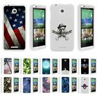 For HTC Desire 510 Hard Fitted 2 Piece Snap On Case White