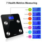 EXCELVAN Body Fat Scale 7 Health Metrics Measuring 4 High Precision Sensors US