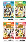 Nintendo Animal Crossing Amiibo Cards Series 1 2 3 4 3DS Wii U 6 card Packed