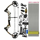 Compound Bow and Arrow Archery Hunting Target Limbs Bow Kit 19-30