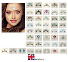 ADHESIVE FACE CHEST GEMS Glitter Jewel Tattoo Sticker Festival Party Body Makeup