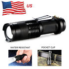15000LM T6 LED 14500-AA Flashlight Waterproof Torch COB Pocket Penlight Zoomable