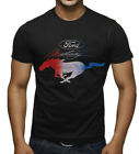 Men's Ford Mustang Red White & Blue Black T Shirt Fastback GT Classic Car Racing image