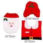 Merry Christmas Toilet Seat & Cover Santa Claus Bathroom Mat Xmas Decorations