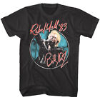 Billy Idol Rebel Yell Tour 1983 Men's T Shirt Autograph Punk Rock Concert Merch image