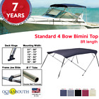 BIMINI+TOP+4+Bow+Boat+Cover+8ft+Long+With+Rear+Poles