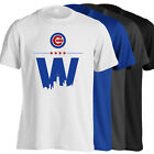 Chicago Cubs T-Shirt - World Series Champs Cubs Win W in 4 Colors - S-5XL on Ebay