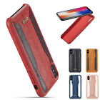 Fr iPhone X 7 8 6 5S Shockproof PU Leather Back Soft Silicone Wallet Case Cover