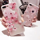 Fashion Silicone Relief Flower TPU Soft Shell Phone Back Cover Shell for iPhone