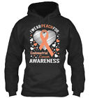 Trendsetting Endometrial Cancer Awareness - I Wear Peach Standard College Hoodie