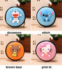 Cute Cartoon Portable Round Hard Earphone Earbuds Case Storage Coin SD Card Bag