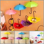 Key Hanger Rack Hook For Home Decor Umbrella Shape Cute Wall Decal Organize 3pcs