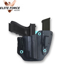 EFH: Fits Glock 17 IWB Custom Gun Holster Mag Carrier Tiffany Blue Carbon Fiber