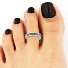 Sterling 925 Silver Toe Ring Finger Band Planted Jewellery Gift Adjustable Solid <br/> CHOOSE FROM 4 AMAZING RINGS - SILVER PLATED RING