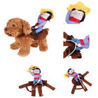 Dog Cat Coat Jacket Cowboy Rider Costume Clothes Outfit Knight Style Pet Supply