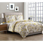 Comforter Microfiber Lovely Floral Pattern Yellow Soft Comfy Machine Washable  image
