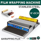 "18"" Food Tray Film Wrapper Wrapping Machine W/Film Tight Operate Teflon Plate"