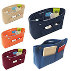 Women Girl Portable Felt Fabric Purse Handbag Organizer Bag Multi Pocket Insert