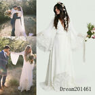 Beach Wedding Dresses 2018 Chic Boho Bohemian Long Bell Sleeve Lace Bridal Gowns