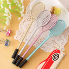 4PCS Cute Tennis Racket Gels Pens Creative Stationery Student Gift Writing Pens