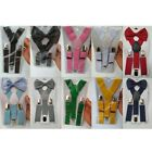 Внешний вид - Adjustable Baby Toddlers Solid Suspender and Bow Tie Set for Kids Boys Girls Hot