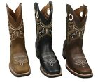 MENS RODEO COWBOY BOOTS GENUINE LEATHER WESTERN SQUARE TOE BOTAS CARR 360