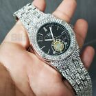 Luxury Men's Iced out Rapper's Lab Diamond Metal Band Dress Clubbing wrist WatchBracelets - 50637