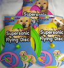 Pet Touch Supersonic Doggy Flying Disc Dog Frisbee (Pink Green or Yellow)