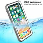 Clear For Apple iPhone X Waterproof Case Cover Slim Defender works Qi Charger