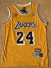 NWT Throwback Kobe Bryant Los Angeles Lakers 24 Yellow Home Mens Jersey