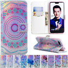 Laser Patterns Leather Magnetic Flip Wallet Stand Case Cover For Various Phone