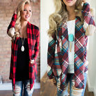 womens flannel plaid long sleeve shirts casual