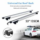 "53"" Car Aluminum Roof Racks Adjustable Crossbar Top Carrier Rail & Lock Lot MA"