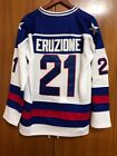 NEw 1980 Miracle On Ice Team USA Mike Eruzione 21 Hockey Jersey All stitched