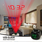 Multifunction Digital LCD Talking Projection Voice Alarm Clock Time Temp Display