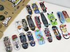 Tech Deck Skateboard Lot of Boards and 3 Ramp Park Sections w/ Stickers.
