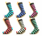 12 Pk Mens Pierre Calvini Luxury Stripe Cotton Rich Sock 6-11 UK. Gents socks