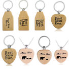 Wooden Necklace Gift Mom Dad Baby Kids Family Key Rings Birthday Father Mother