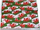 Welsh Flag Red White Green 100% Cotton High Quality Fabric Material *3 Sizes*