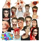 Halloween Zombie Prosthetic Wound Kit Latex Scar Blood Make Up Fancy Dress Gore