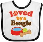 Inktastic Beagle Dog Lover Gift Baby Bib Pets Loved By Cute Clothing Infant Hws