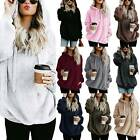 US Ladies Warm Fleece Hooded Hoody Sweatshirt Hoodies Womens Winter Jumper Tops