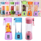 380ml Mini USB Rechargeable Tense Juicer Bottle Fruit Blender Mixer w/ 2 Vane