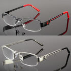 Khan Rectangular Half Rimless Metal Reader Reading Glasses Men Sophisticate look