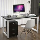 Computer Desk PC Laptop Study Table Home Office Workstation FREE Bookcase&Tray