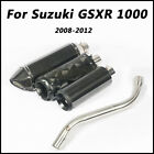 For Suzuki GSXR1000 2008-2012 Slip on Connect Middle Pipe Exhaust Muffler Pipe