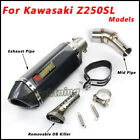 For Kawasaki Z250SL Connecting Middle Pipe Exhaust Muffler Pipe with DB Killer