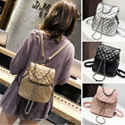 Convertible Quilted Faux Leather Small Mini Backpack Shoulder Bag Purse Handbag