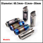 38mm~51mm~60.5mm Universal Motorcycle Exhaust Tail tube Exhaust Muffler Pipe